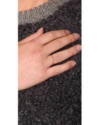 Jacquie Aiche - Metallic Diamond Waif Bezel Ring - Lyst