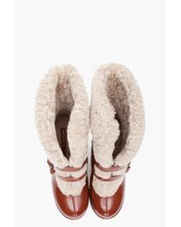Marc By Marc Jacobs | Brown Mocasso Shearling Wedge | Lyst