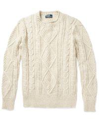 Polo Ralph Lauren | Natural Aran Sweater for Men | Lyst
