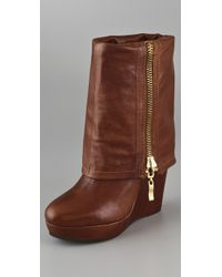 Steven by Steve Madden - Brown Brix Wedge Boots - Lyst