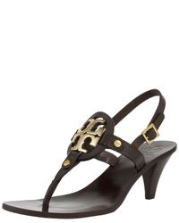 Tory Burch | Black Holly Mid-heel Thong Sandal | Lyst