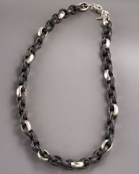 Armenta - Metallic Wide Sculpted Link Necklace for Men - Lyst