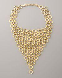 Devon Leigh | Metallic Bib Necklace | Lyst