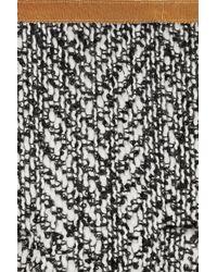 Easton Pearson - Gray Chevron Tweed Midi Skirt - Lyst