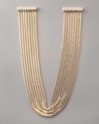 Fragments - Metallic Snake-chain Necklace - Lyst