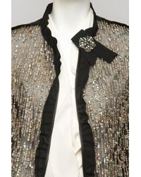 Lanvin - Metallic Sequin Jacket - Lyst