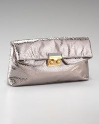 Marc By Marc Jacobs | Metallic Snake On A Wire Clutch | Lyst