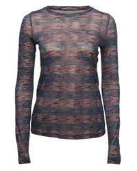 Proenza Schouler | Multicolor Striped Long Sleeve T-shirt | Lyst