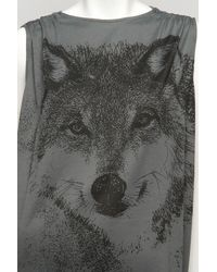 Stella McCartney - Gray Wolf T-shirt Dress - Lyst
