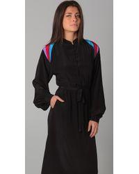 Sunner - Black Inset Shoulder Dress - Lyst