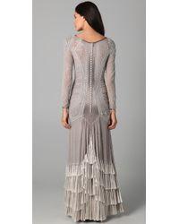 Temperley London | Gray Silvia Long Dress | Lyst
