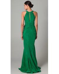 Zac Posen - Green Halter Gown - Lyst