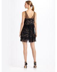 BCBGMAXAZRIA - Black Gilly Two-tiered Dress - Lyst