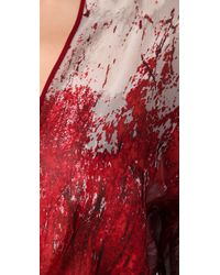 BCBGMAXAZRIA | Red Gabriella Abstract Forest Print Dress | Lyst