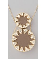 House of Harlow 1960 - Natural Double Sunburst Station Necklace - Lyst