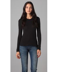 James Perse | Black Long Sleeve Crew Neck Tee | Lyst