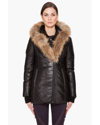 Mackage | Black Ingrid Glam Puffy Leather Jacket | Lyst