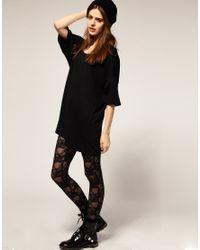 American Apparel - Black Big T Shirt - Lyst