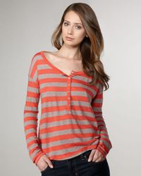 Splendid | Red Mixed-stripe Tee | Lyst