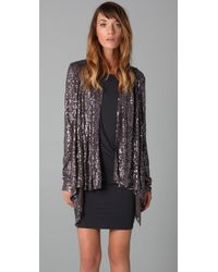Velvet By Graham & Spencer | Gray Emella Spiral Sequin Top | Lyst