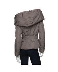 Add - Brown Preorder Short Shawl Collar Puffer - Lyst