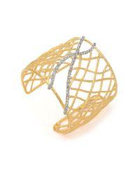 Alexis Bittar | Metallic Basketweave Gold Cuff | Lyst
