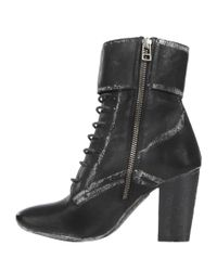 AllSaints | Black Heeled Damisi Boot | Lyst