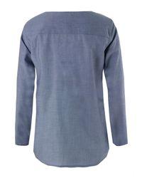 A.P.C. | Blouse Plastron Blue Shirt | Lyst