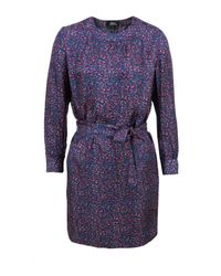 A.P.C. | Purple Bas Droit Violet Fonce Dress | Lyst