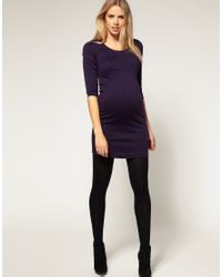 ASOS Collection - Purple Asos Maternity Dress in Ponti - Lyst