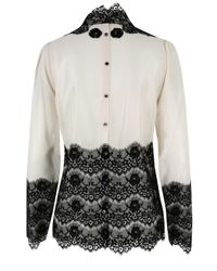 By Malene Birger | Flori Eggshell & Black Shirt | Lyst