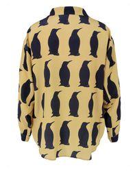 Charlotte Taylor | Natural Sh-01 Winter Penguin Print Shirt | Lyst