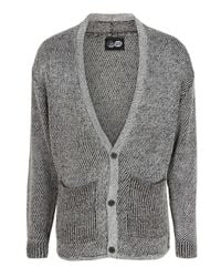 Cheap Monday | Gray Rokel Cardigan in Salt and Pepper for Men | Lyst