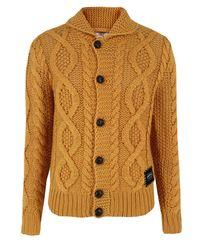 DIESEL | Orange Zepy Mustard Cardigan for Men | Lyst
