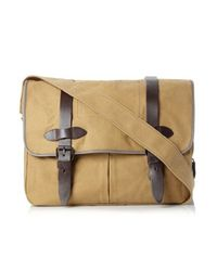 French Connection - Black Bristol Canvas Messenger Bag for Men - Lyst