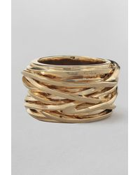 French Connection - Metallic Wrap Around Ring - Lyst