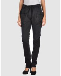Haider Ackermann | Gray Black Distressed Cotton Cropped Sweat Trousers | Lyst