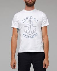 Heritage Research - White Goodwear T Shirt for Men - Lyst