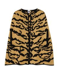 M Missoni | Multicolor Tiger-print Merino Wool Cape | Lyst
