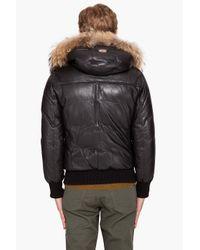 Mackage | Black Shaun Puffy Leather Coat for Men | Lyst