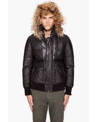 Mackage | Black Shaun Puffy Leather Coat for Men | Lyst