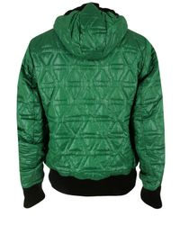 Ma.strum | Quilted Hooded Liner Green Jacket for Men | Lyst