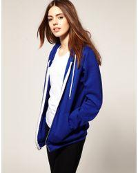 American Apparel - Blue Hoodie - Lyst