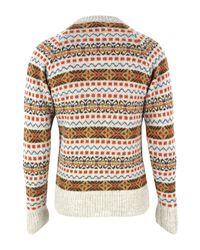 Nigel Cabourn | Orange Fairisle Sweater for Men | Lyst