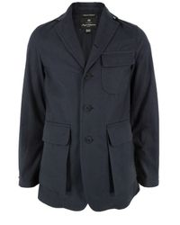 Nigel Cabourn | Blue Unlined Navy Tenzing Jacket. for Men | Lyst