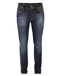 Nudie Jeans | Blue Thin Finn Recycle Replica Jeans for Men | Lyst