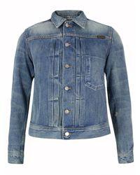 Nudie Jeans | Blue Lab Sonny Light Vintage Wash Denim Jacket for Men | Lyst