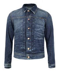 Nudie Jeans | Blue Sonny Organic Battered Denim Jacket for Men | Lyst