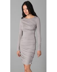 Obakki | Gray Alma Long Sleeve Dress | Lyst