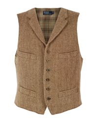 Polo Ralph Lauren | Natural A30 Tweed Waistcoat for Men | Lyst